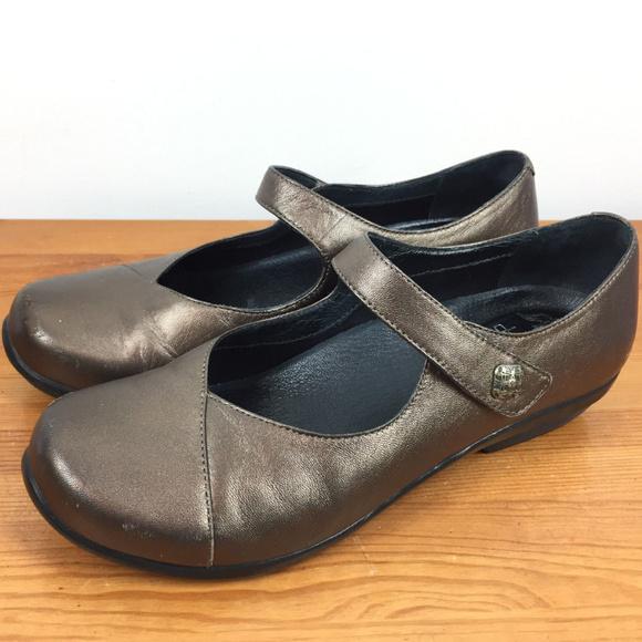 ece759d857240 Dansko Opal Bronze Brown Leather mary janes 37 7